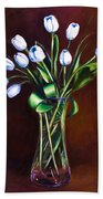 Simply Tulips Beach Towel
