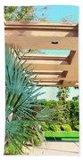Sinatra Patio Palm Springs Beach Towel