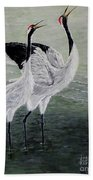 Singing Cranes Beach Towel