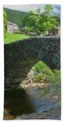 Single Arch Stone Bridge - P4a16018 Beach Towel
