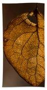 Single Fall Leaf Beach Towel