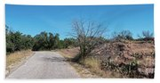 Single Lane Road In The Hill Country Beach Towel