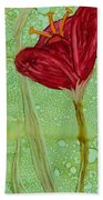 Single Poppy Beach Towel
