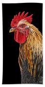 Single Rooster Beach Towel