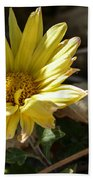 Single Yellow Mum Beach Towel