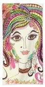 Sisterhood Of The Doodling Pens 5 Beach Towel