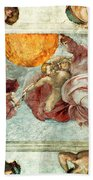 Sistine Chapel Ceiling Creation Of The Sun And Moon Beach Towel