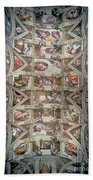 Sistine Chapel Ceiling Beach Towel