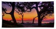 Sit With Me Driftwood Beach Sunrise Jekyll Island Georgia Beach Towel