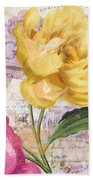 Sitting Pretty Peonies Beach Towel