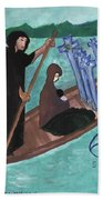 Six Of Swords Illustrated Beach Towel