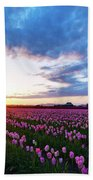 Skagit Floral Sunset Beach Towel