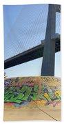 Skate Under Bridge Beach Towel