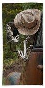 Skeleton Crew - Skeleton Driving A Vintage Truck Beach Towel
