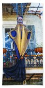 Skeleton Ghost Beach Towel