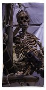 Skeleton With Bow Canon Beach Towel