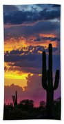 Skies Aglow In Arizona  Beach Towel