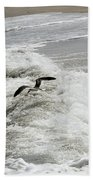 Skimmer And Waves Beach Towel