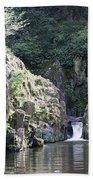Skryje Waterfall And Pond Beach Towel