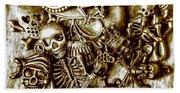 Skull And Cross Bone Treasure Beach Towel