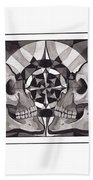 Skull Mandala Series Nr 1 Beach Sheet by Deadcharming Art