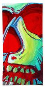 Skull Original Madart Painting Beach Towel
