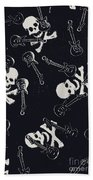 Skull Rockers Art Beach Towel