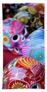 Skulls Day Of The Dead  Beach Towel