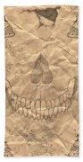 Skulls In Grunge Style Beach Towel