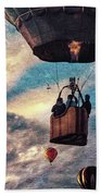Sky Caravan Hot Air Balloons Beach Towel