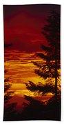 Sky Of Fire Beach Towel