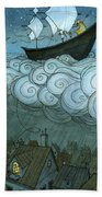 Sky Sailing Beach Towel