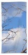 Look At The Blue Sky Beach Towel