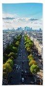Skyline Of Paris, France Beach Towel
