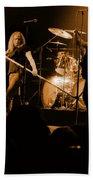 Skynyrd Sf 1975 #10 Crop 2 Enhanced In Amber Beach Towel