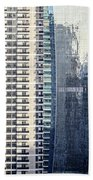 Skyscraper Windows Beach Towel