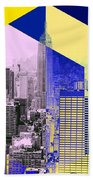 Skyscrapers Beach Towel