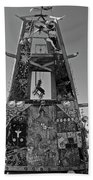 Slab City Museum Tower Bw Beach Towel