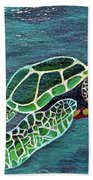 Slate Painting Beach Towel