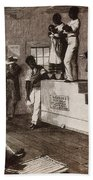 Slave Auction In Virginia Beach Towel by Photo Researchers