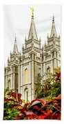 Slc Temple Angle Beach Towel by La Rae  Roberts