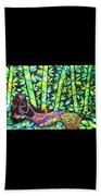 Sleep To Dream Silkpainting Belize Beach Towel