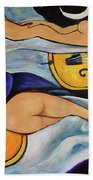 Sleeping Cellists Beach Towel