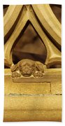 Sleeping Dog In Strasbourg Cathedral Beach Towel