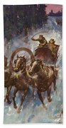 Sleigh Ride Beach Towel