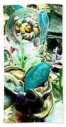 Sliced Agate Coral To No Maintenance Aquariumn Beach Towel