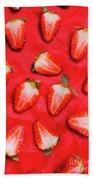 Sliced Red Strawberry Background Beach Sheet