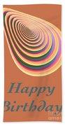 Slinky - Happy Birthday Card 2 Beach Towel