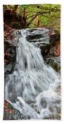Slippery Rock Falls Fdr State Park Ga Beach Towel