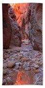 Slot Canyon Reflections Beach Towel